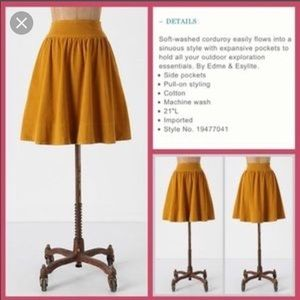 Blue fine Cord skirt